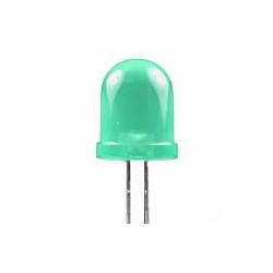 LED 8MM GREEN 2PCS/PKG