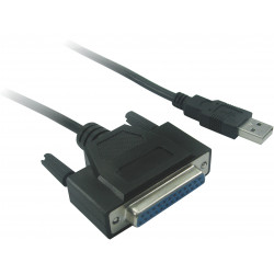 USB TO PARALLEL CONVERTER CABLE, 6FT, DB25F