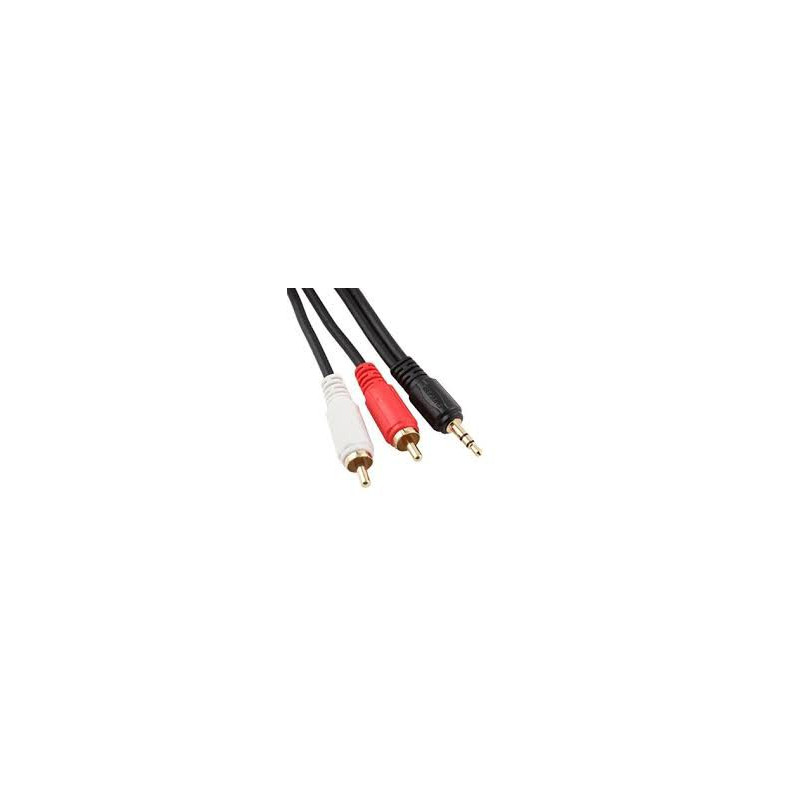 AUDIO CABLE, 3.5mm(M) TO 2 RCA(M), 15M