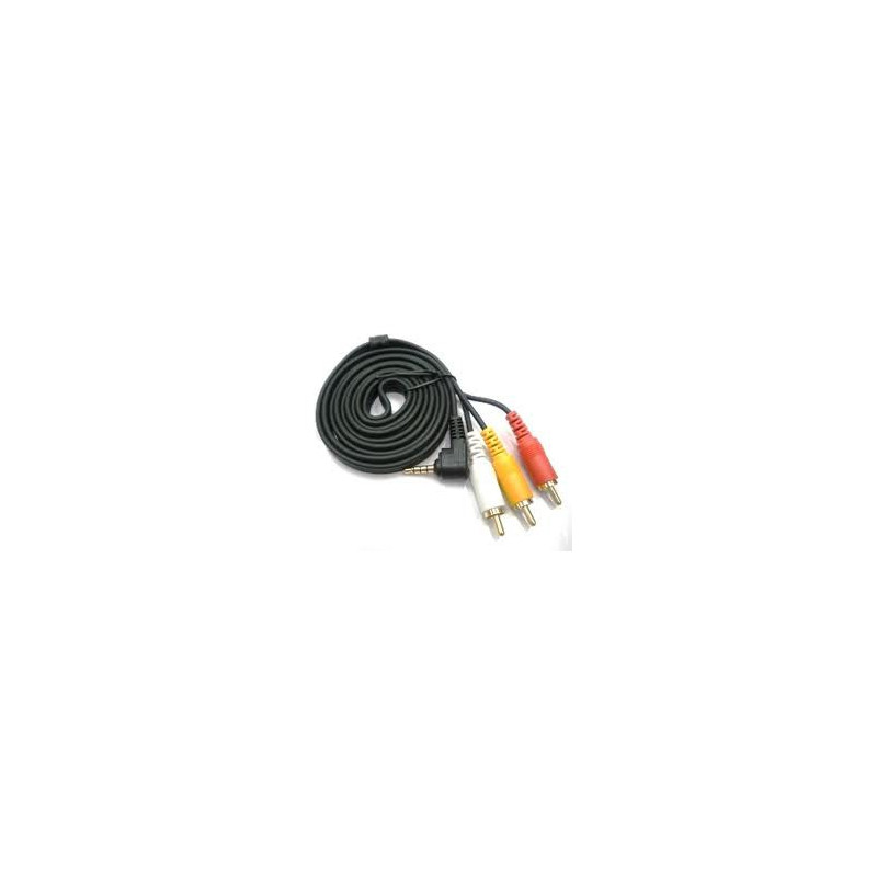 VIDEO CABLE,90 DEG 3.5mm TO COMPOSITE(3 RCA),3M