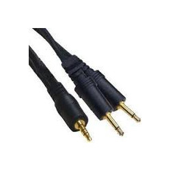 AUDIO CABLE, 3.5mm(ST) TO 2x3.5mm(MONO), 1.8M