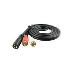 AUDIO CABLE, 3.5mm(F) TO 2 RCA(M), 1.5M