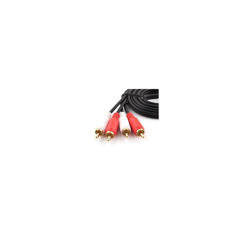 AUDIO CABLE, 2 RCA(M) TO 2 RCA(M), 5M