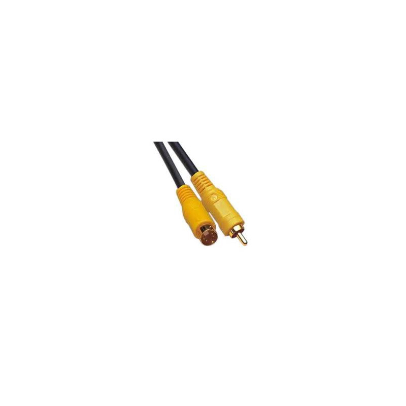 VIDEO CABLE,S-VIDEO TO COMPOSITE(1 RCA),1.5M