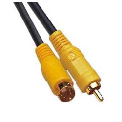 VIDEO CABLE,S-VIDEO TO COMPOSITE(1 RCA),3M