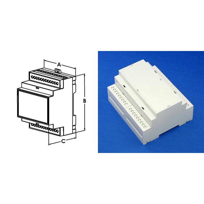 BOX ABS/PC 4.18 X 3.55 X 2.26'' GRY DIN RAIL MOUNT