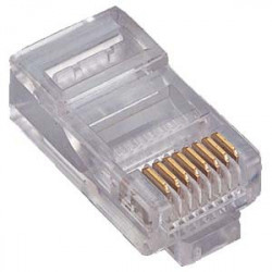 RJ-45 8P/8C CAT5E CRIMP CONNECTOR PLUG 4PCS/PKG