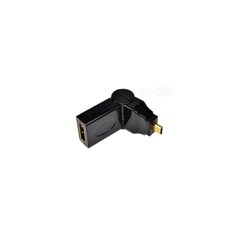 MICRO HDMI (M) TO HDMI (F) ADAPTER FOLDABLE