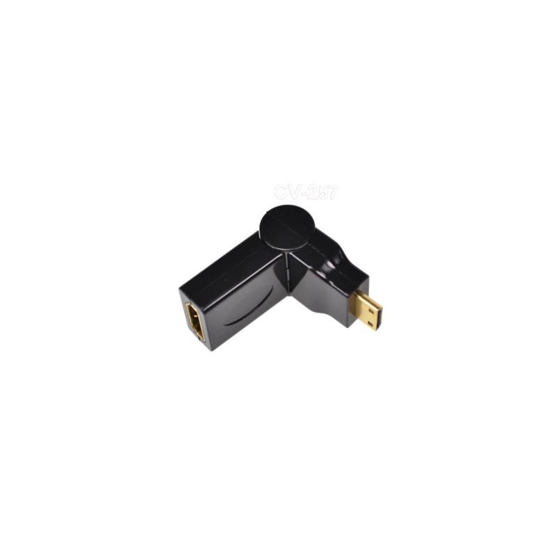 MINI HDMI (M) TO HDMI (F) ADAPTER FOLDABLE