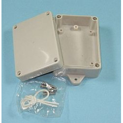 PLASTIC SEALED BOX 155X100X55MM W/ MOUNTING FLANGE