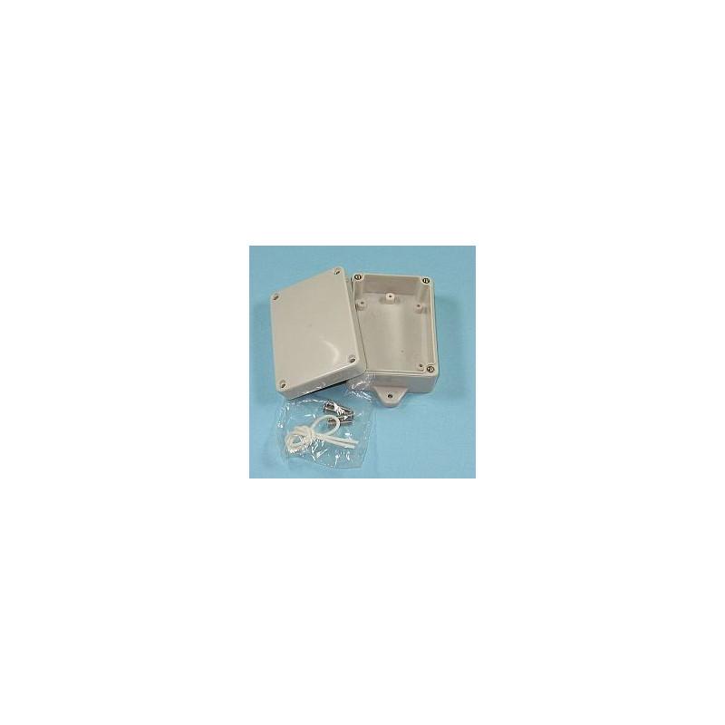 PLASTIC SEALED BOX 155X100X55MM W/ MOUNTING FLANGE