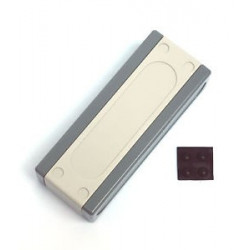 ENCLOSURE, PLASTIC, GREY, SNAP ON, 105x41x25.2MM