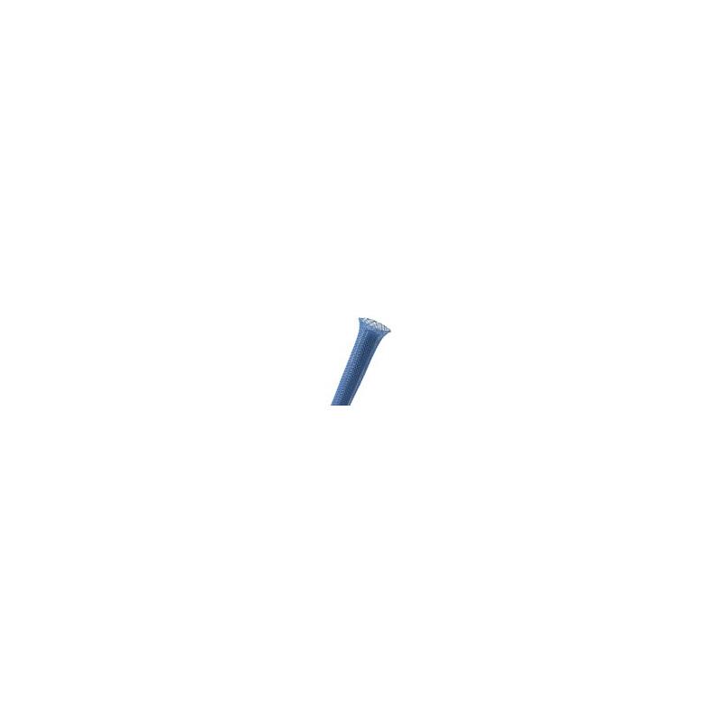 "BRAIDED SLEEVING, PET 1"", PTN1.00BL, BLUE"