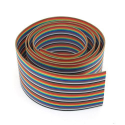FLAT RIBBON CABLE RAINBOW 16PINS - PER FOOT