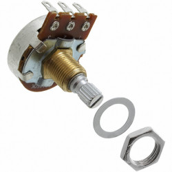 POTENTIOMETER, 250K, LINEAR, 24MM, KNURLED, LUGS