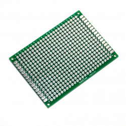 PROTOTYPING PCB, 50x70MM, DOUBLE SIDED, PLATED