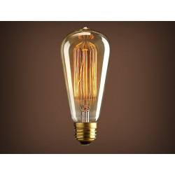 VINTAGE LIGHT BULB ST64 25W 120VAC E27