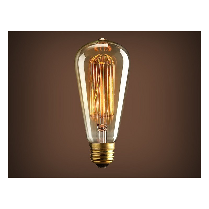 VINTAGE LIGHT BULB ST64 25W 120VAC E27