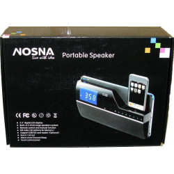 NOSNA PORTABLE SPEAKER W/ 3.5'' DIGITAL LCD DISPLA