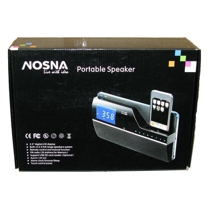 NOSNA PORTABLE SPEAKER W/ 3.5'' DIGITAL LCD DISPLA