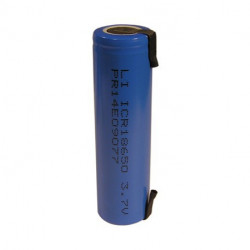 BATTERY, RECHARGEABLE LC18650 LI-ION 3.7V W/TAB