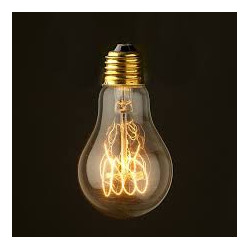 VINTAGE LIGHT BULB BT75 25W 120VAC E27