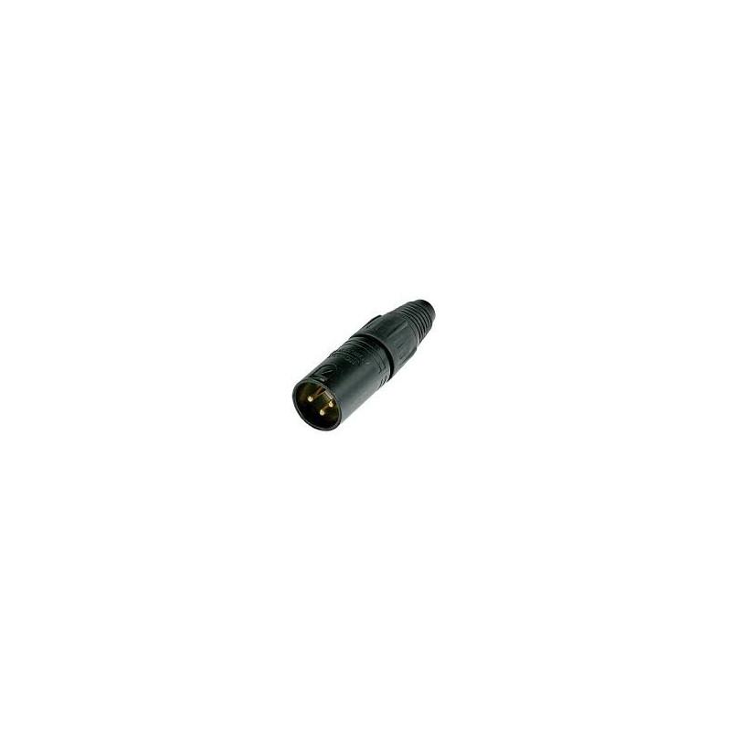 XLR 3-PIN (M) NEUTRIK NC3MXX-B BLACK