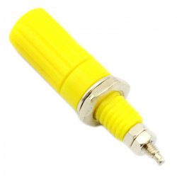 CONNECTORS, BINDING POST, 12MM,  YELLOW SLF-2064Y