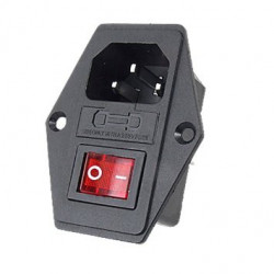 ROCKER SWITCH W/ IEC SOCKET & FUSE HOLDER (SCREW)