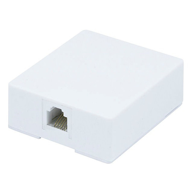 WALL PLATE 6P/6C SURFACE MOUNT JACK 12-23-0