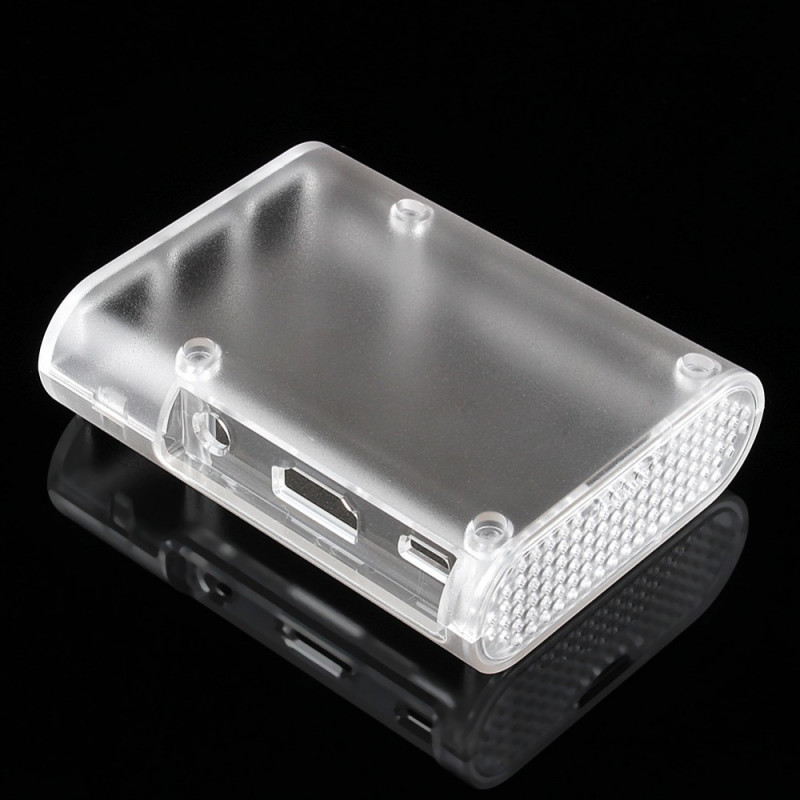 ENCLOSURE, RASPBERRY PI 2/B+ CASE,  ABS ,CLEAR