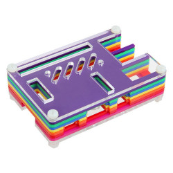 ENCLOSURE,RASPBERRY PI 3/2/B+ CASE,LAYERED,RAINBOW