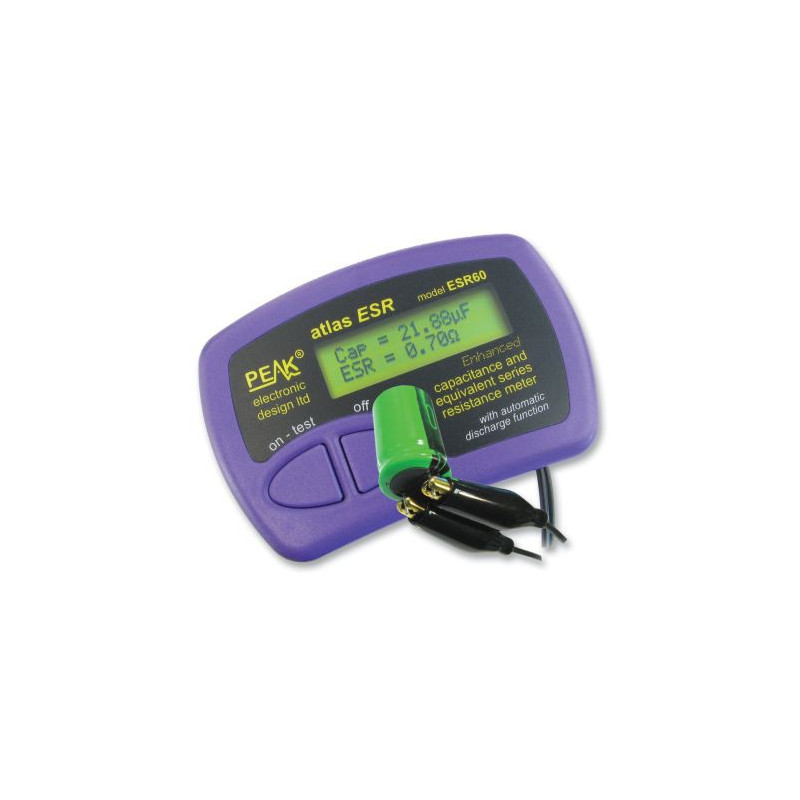 CAPACITANCE AND ESR METER BY PEAK ESR60