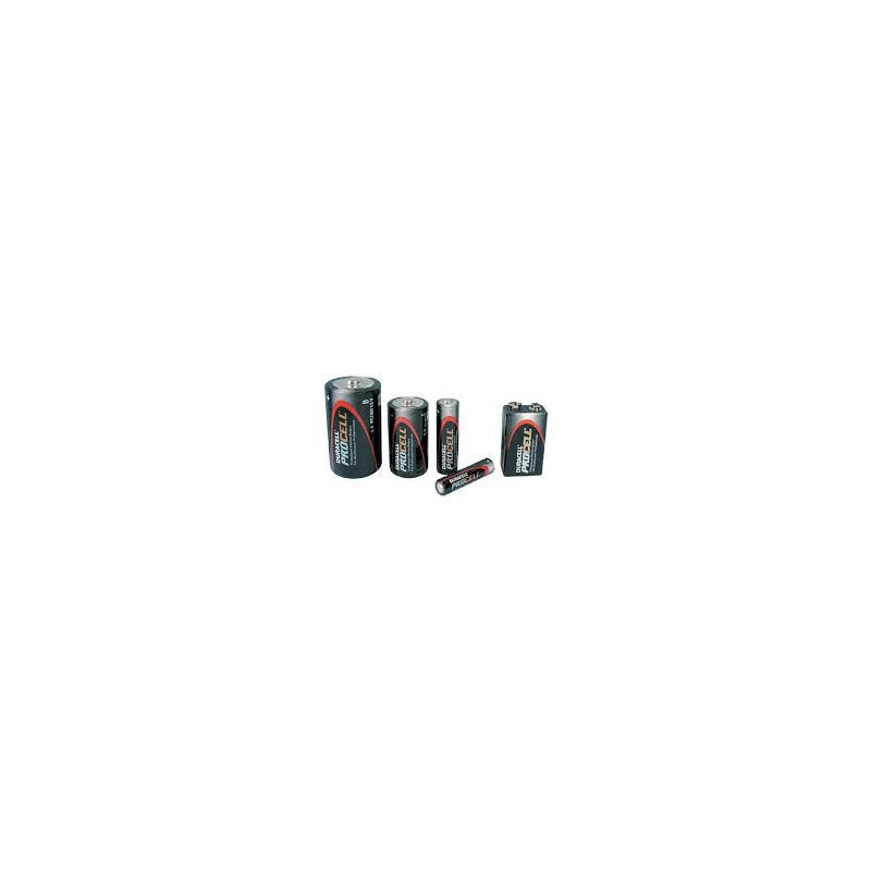 BATTERIES DURACELL PROCELL 1.5V C-CELL ALKALINE