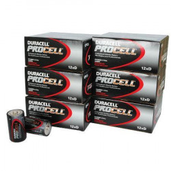 BATTERIES DURACELL PROCELL 1.5V D-CELL ALKALINE