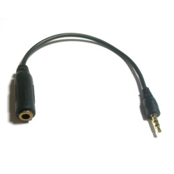 2.5MM PLUG TO 3.5MM JACK IN LINE WIRE