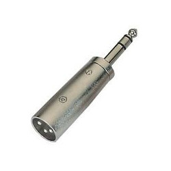 "1/4"" STEREO TO XLR 3-PIN MALE ADAPTOR SLF-5853"
