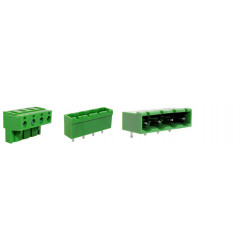 TERMINAL BLOCK 7.62MM 2-POS 90D 2SETS