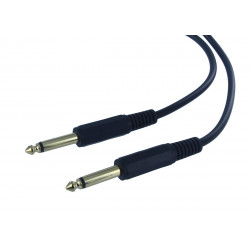 "AUDIO CABLE, 1/4"" TO 1/4"" MONO, 10M(GOLD PLATED)"