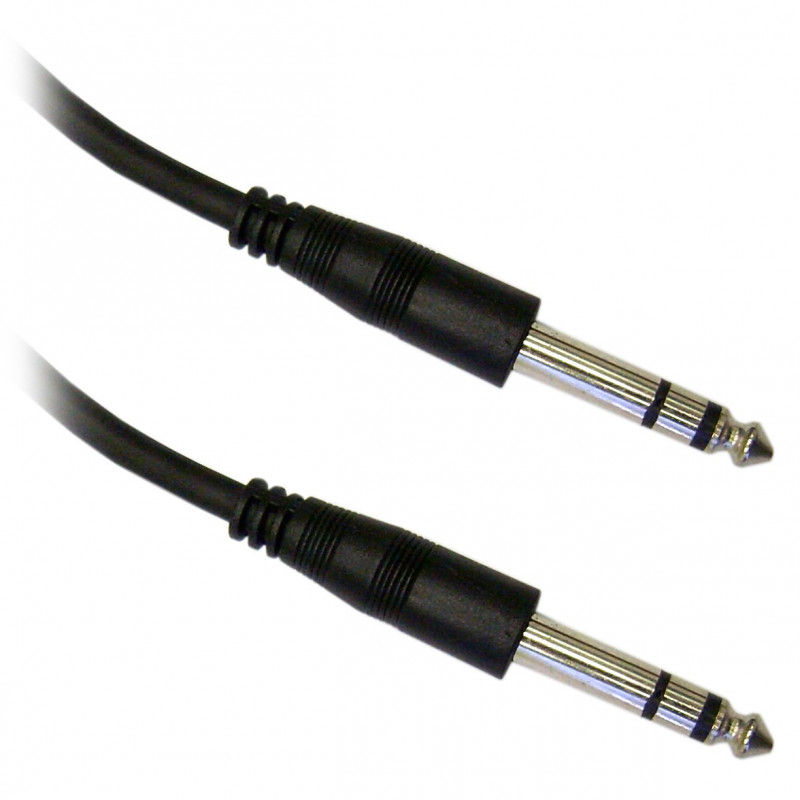 "AUDIO CABLE, 1/4"" TO 1/4"" STEREO, 7.6M GOLD PLATED"