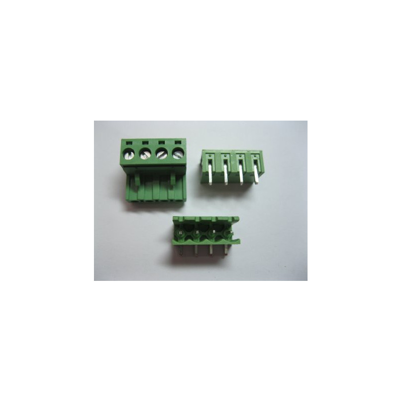 TERMINAL BLOCK 5.08MM 4-POS, TOP MOUNT PCB, 2SET