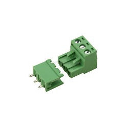 TERMINAL BLOCK 5.08MM 3-POS, VERTICAL MOUNT 3 SETS