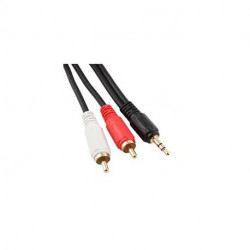 AUDIO CABLE 3.5mm(M) TO 2 RCA(M) 0.2M