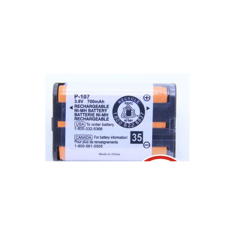 BATTERIES HHR-P107 NIMH 3.6V 700MA