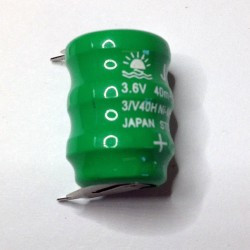 BATTERY, RECHAREABLE, NiMH, 3.6V, 60Ah