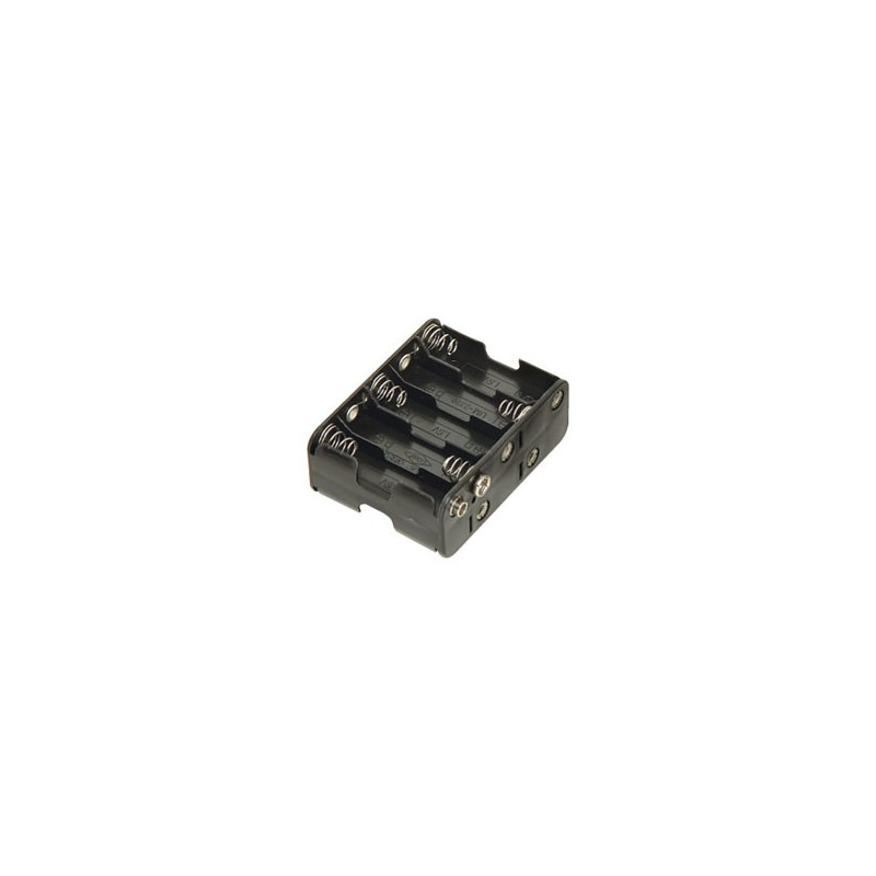 BATTERY HOLDER, AAx10, BACK TO BACK, w/WIRE