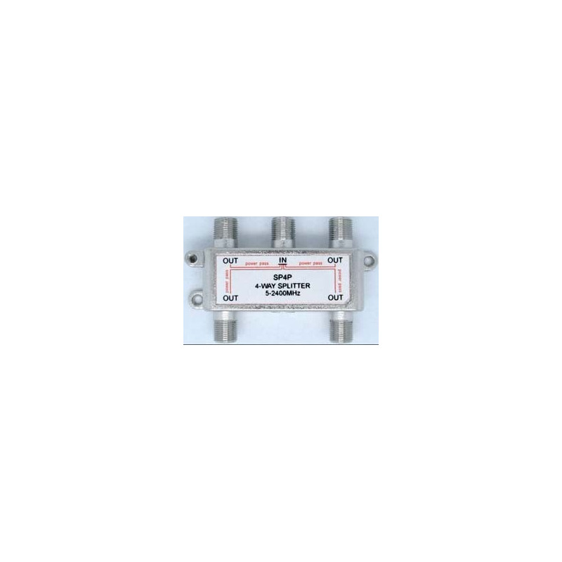 TV SPLITTER 4-WAY 5-2400MHZ