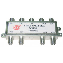 TV SPLITTER 8-WAY BI-DIR POWER PASS 2GH