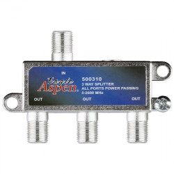 TV SPLITTER 3-WAY BI-DIRECTIONAL 2GHZ
