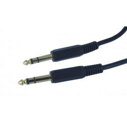 "AUDIO CABLE, 1/4"" TO 1/4"" STEREO, 0.3M"